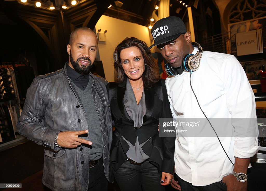 Kenny Burns, Louise Mohn and <a gi-track='captionPersonalityLinkClicked' href=/galleries/search?phrase=DJ+Whoo+Kid&family=editorial&specificpeople=4360604 ng-click='$event.stopPropagation()'>DJ Whoo Kid</a> attend the Secret Circus Clothing Fashion Week Kick Off Event at the Limelight Marketplace on February 6, 2013 in New York City.