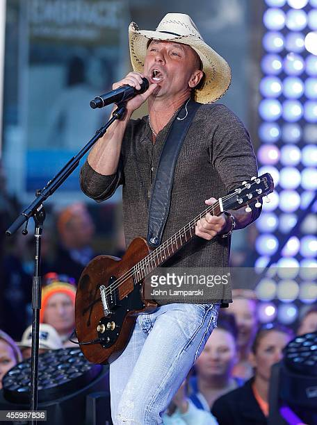 Kenny Chesney performs on NBC's 'Today' at the NBC's TODAY Show on September 23 2014 in New York New York