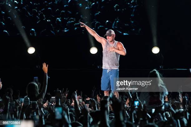 Kenny Chesney performs on stage at Tortuga Music Festival on April 9 2017 in Fort Lauderdale Florida