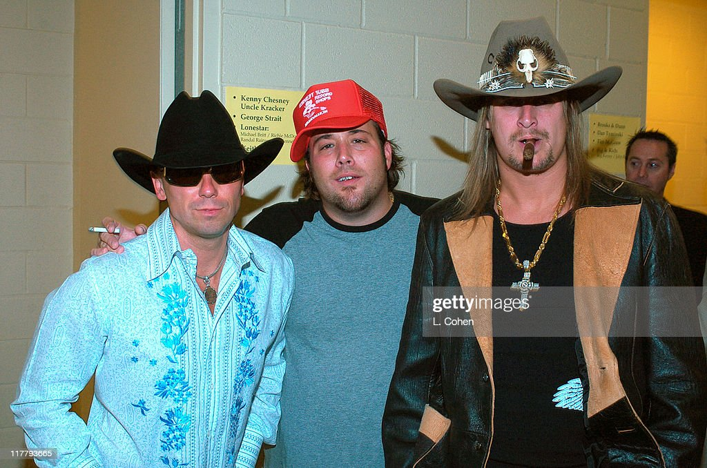 Kenny Chesney, Uncle Kracker and Kid Rock during 39th Annual Academy of Country Music Awards - Backstage and Audience at Mandalay Bay Resort and Casino in Las Vegas, Nevada, United States.