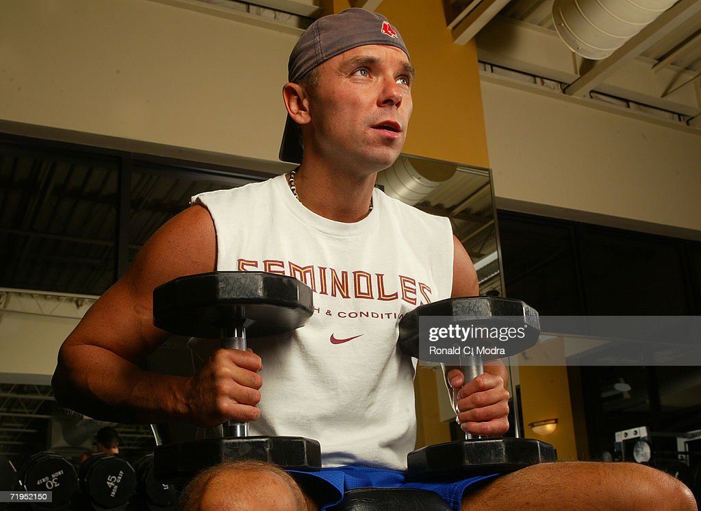 Kenny Chesney working out at a gym in 2005 in Franklin Tennessee