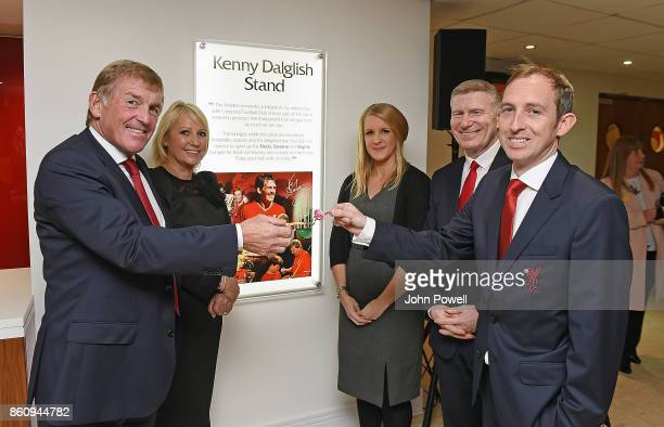 Kenny Dalglish and Marina Dalglish had over the keys to a community suit in Anfield to the Liverpoo Red Neighbours team during the Kenny Dalglish...