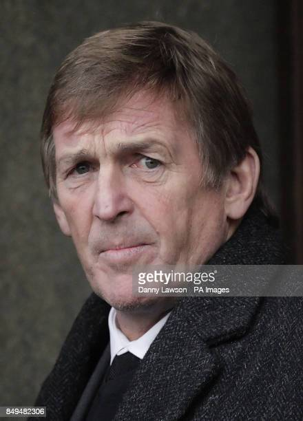 Kenny Dalglish attends the funeral of former Celtic assistant manager Sean Fallon at Christ the King Church in Glasgow Scotland