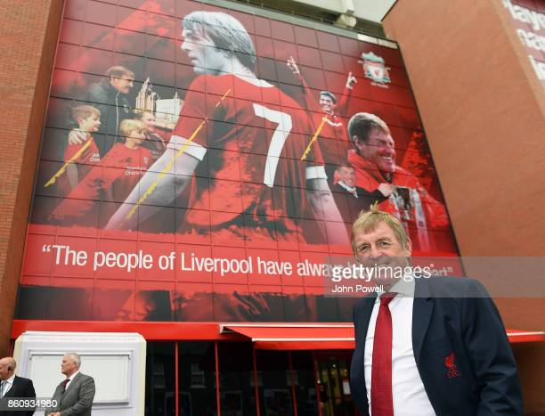 Kenny Dalglish during the Kenny Dalglish Stand unveiling on October 13 2017 in Liverpool England