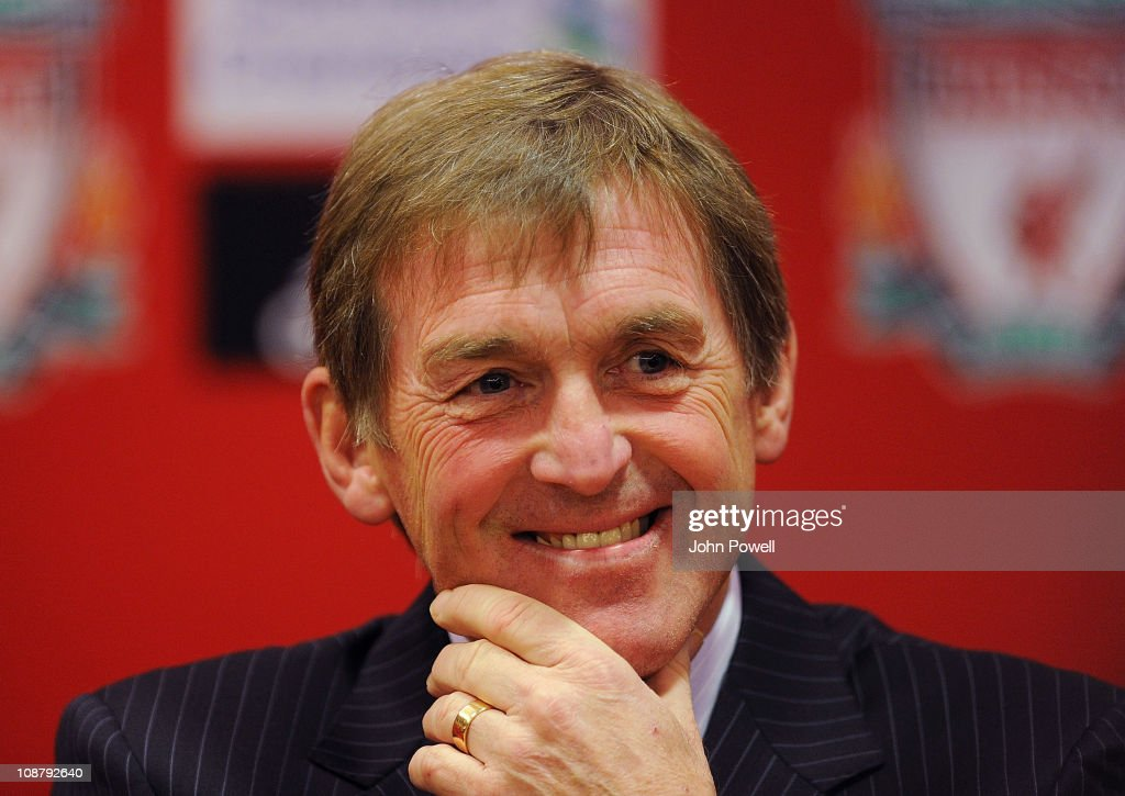 <a gi-track='captionPersonalityLinkClicked' href=/galleries/search?phrase=Kenny+Dalglish&family=editorial&specificpeople=221580 ng-click='$event.stopPropagation()'>Kenny Dalglish</a> manager of Liverpool smiles during a press conference at Anfield on February 3, 2011 in Liverpool, England.