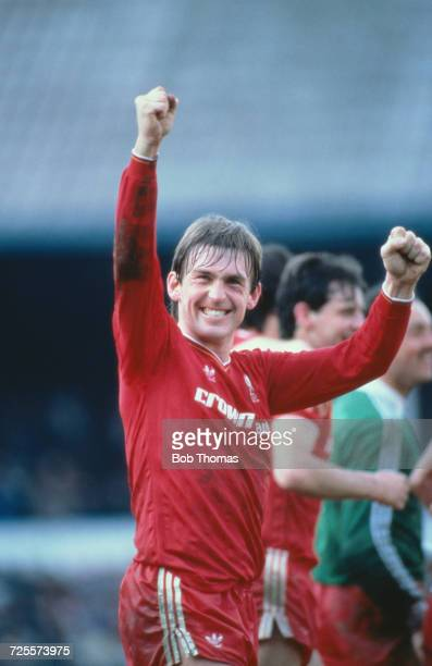 Kenny Dalglish of Liverpool celebrates after the FA Cup semifinal against Southampton at White Hart Lane in London 4th April 1986 Liverpool won the...