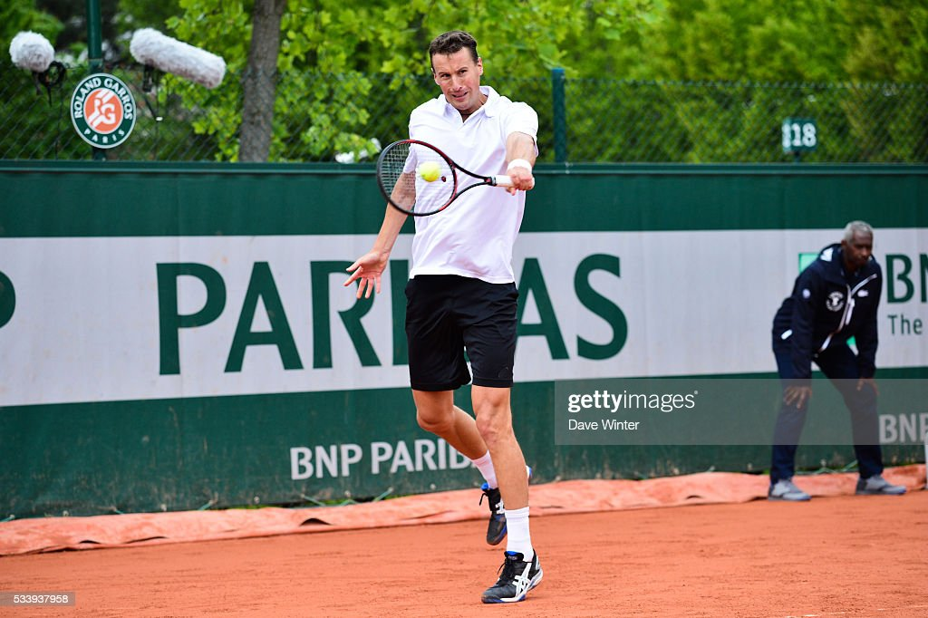 Kenny De Schepper during the Men's Singles first round on day three of the French Open 2016 at Roland Garros on May 24, 2016 in Paris, France.