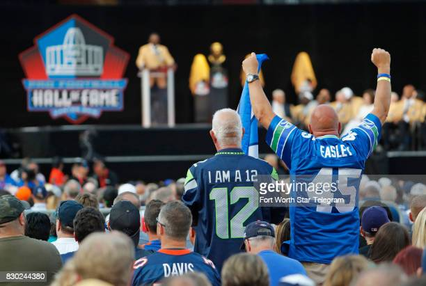Kenny Easley fans cheer during his induction speech The 2017 NFL Hall of Fame class including Dallas Cowboys owner Jerry Jones and former TCU running...