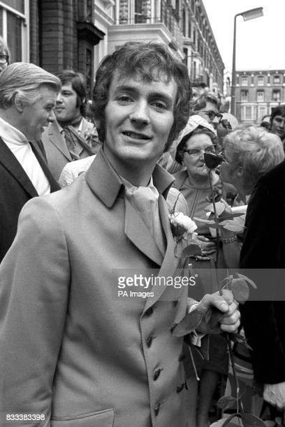 Kenny Everett at Kensington Register Office where he married Audrey Middleton known as the singer Lady Lee