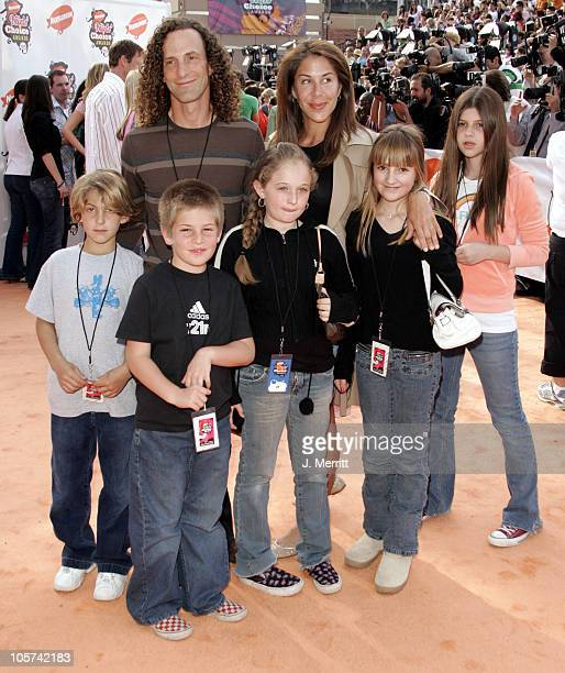 Kenny G and family during Nickelodeon's 18th Annual Kids Choice Awards Arrivals at Pauley Pavilion in Los Angeles California United States