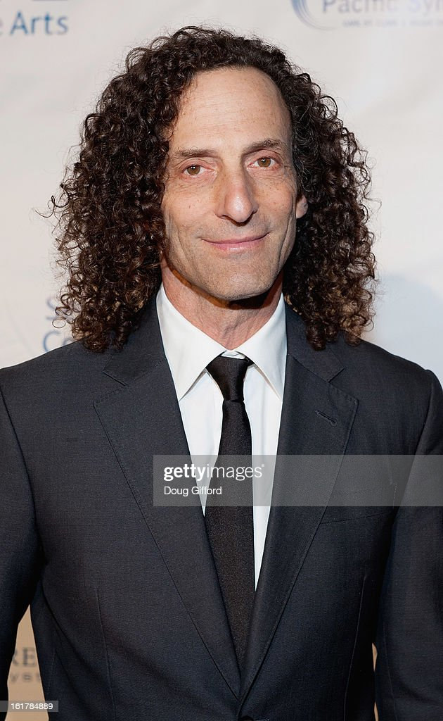 <a gi-track='captionPersonalityLinkClicked' href=/galleries/search?phrase=Kenny+G&family=editorial&specificpeople=211357 ng-click='$event.stopPropagation()'>Kenny G</a> arrives for his performance with the Pacific Symphony 2013 Pops Series at Segerstrom Center For The Arts on February 15, 2013 in Costa Mesa, California.