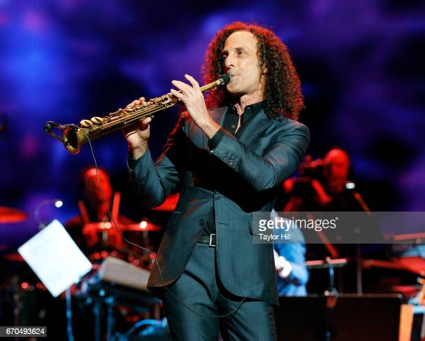 Kenny G performs during the 2017 Tribeca Film Festival Opening Gala premiere of 'Clive Davis The Soundtrack of our Lives' at Radio City Music Hall on...