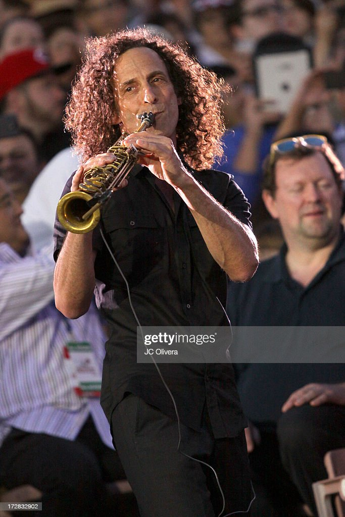 Kenny G performs on stage during Americafest 2013, 87th Annual Fourth of July Celebration at Rose Bowl on July 4, 2013 in Pasadena, California.