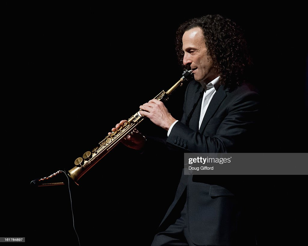 <a gi-track='captionPersonalityLinkClicked' href=/galleries/search?phrase=Kenny+G&family=editorial&specificpeople=211357 ng-click='$event.stopPropagation()'>Kenny G</a> performs with the Pacific Symphony 2013 Pops Series at Segerstrom Center For The Arts on February 15, 2013 in Costa Mesa, California.