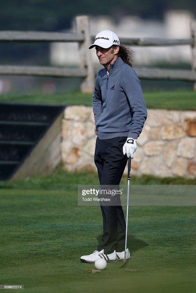 <a gi-track='captionPersonalityLinkClicked' href=/galleries/search?phrase=Kenny+G&family=editorial&specificpeople=211357 ng-click='$event.stopPropagation()'>Kenny G</a> waits to play his tee shot on the seventh hole during the second round of the AT&T Pebble Beach National Pro-Am at the Pebble Beach Golf Links on February 12, 2016 in Pebble Beach, California.