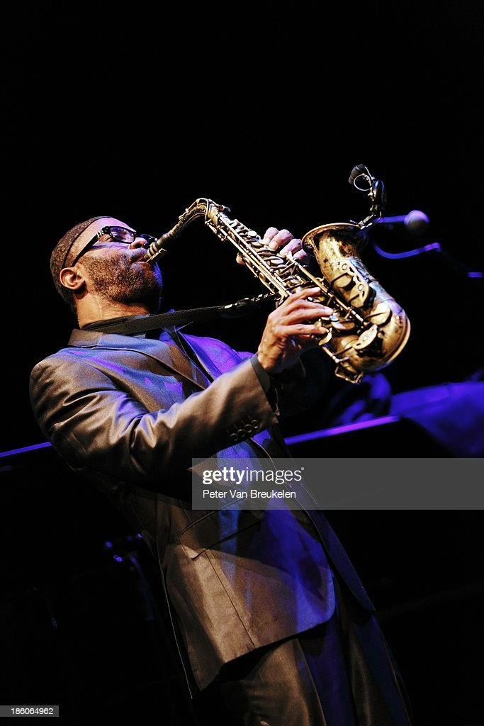 <a gi-track='captionPersonalityLinkClicked' href=/galleries/search?phrase=Kenny+Garrett&family=editorial&specificpeople=4306595 ng-click='$event.stopPropagation()'>Kenny Garrett</a> performs on stage with the <a gi-track='captionPersonalityLinkClicked' href=/galleries/search?phrase=Kenny+Garrett&family=editorial&specificpeople=4306595 ng-click='$event.stopPropagation()'>Kenny Garrett</a> Quintet at Lantaren Venster during the final day of Festival Jazz International 2013 on October 27, 2013 in Rotterdam, .