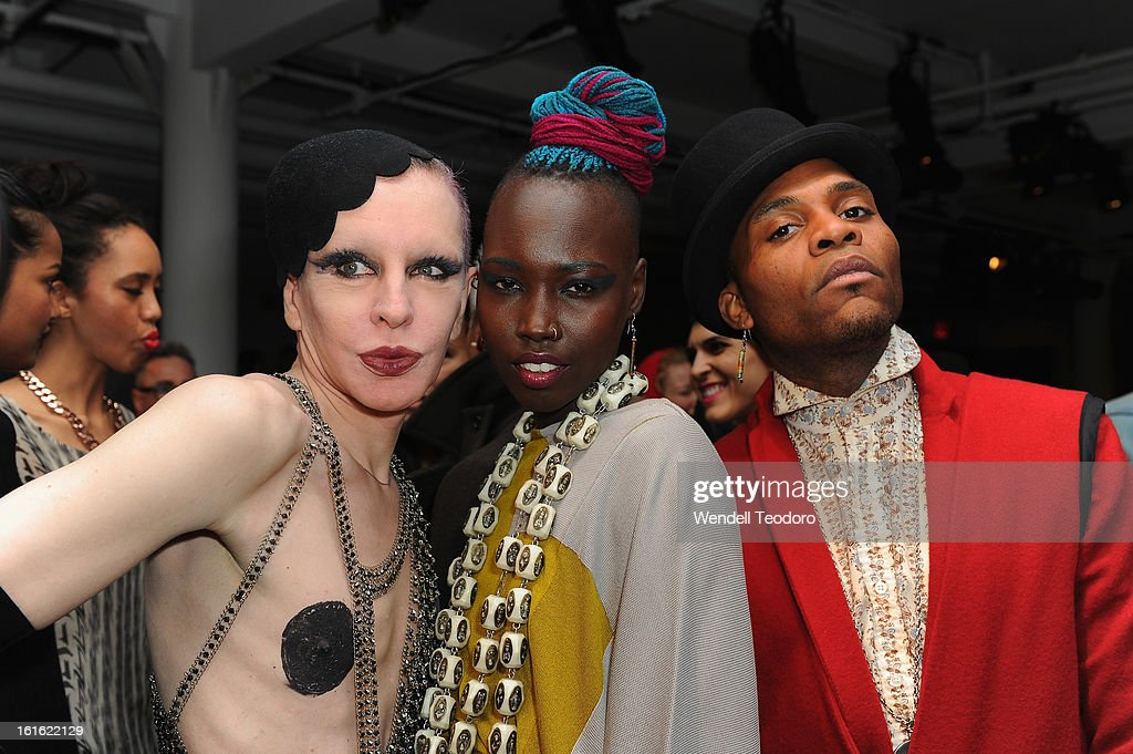 Kenny Kenny, DJ Stiletto and Dapper Afrika attend The Blonds during Fall 2013 MADE Fashion Week at Milk Studios on February 12, 2013 in New York City.
