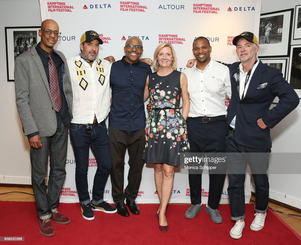 Kenny Kool, Orson Cummings, Coodie, Anne Chaisson, Chike Ozah, Ben Cummings attend the red carpet during Hamptons International Film Festival 2017 - Day Two on October 6, 2017 in East Hampton, New York.
