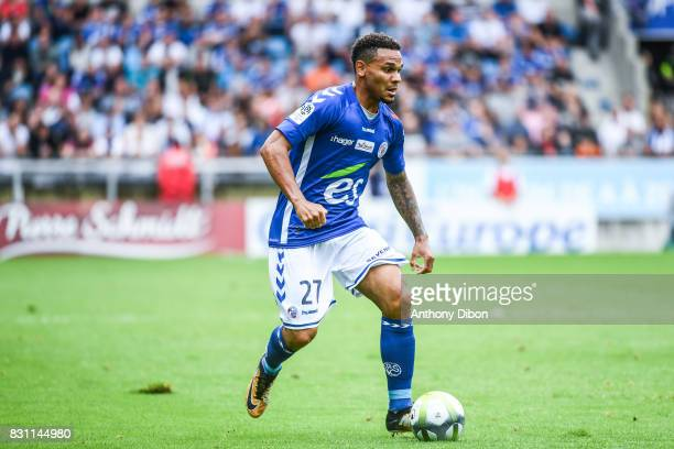 Kenny Lala of Strasbourg during the Ligue 1 match between Racing Club Strasbourg and Lille OSC at Stade de la Meinau on August 13 2017 in Strasbourg