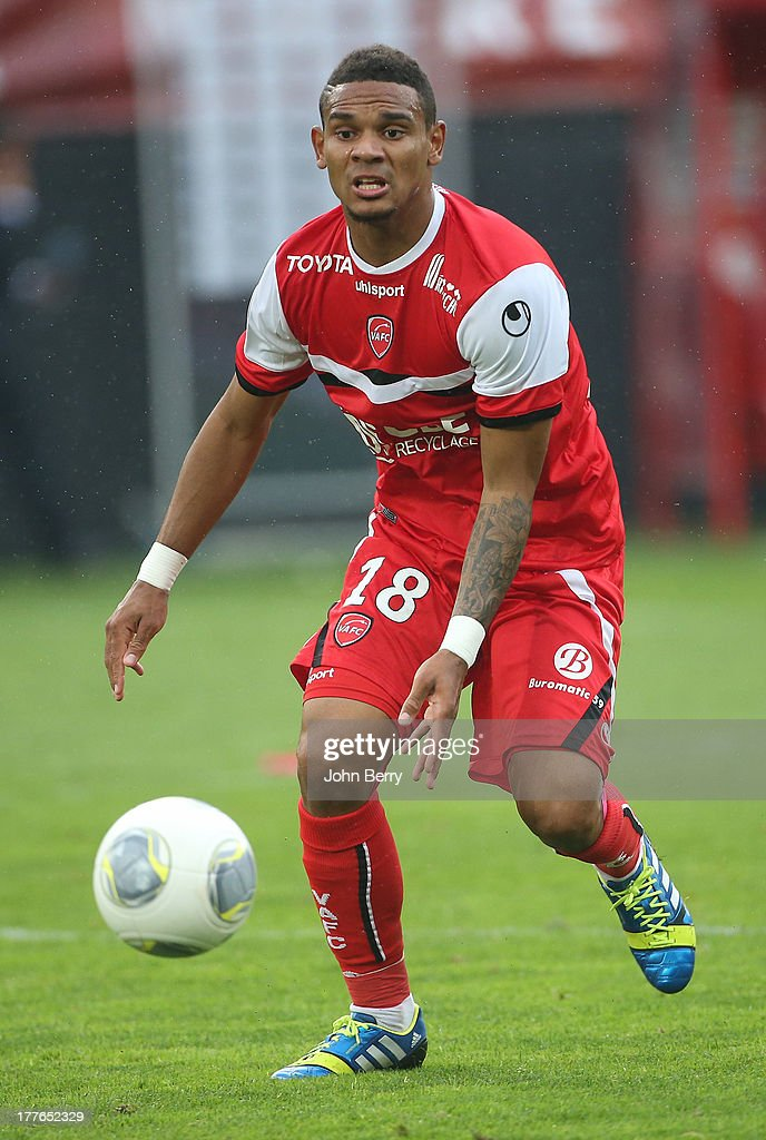 Kenny Lala of Valenciennes in action during the French Ligue 1 match between Valenciennes FC and Olympique de Marseille OM at the Stade du Hainaut stadium on August 24, 2013 in Valenciennes, France.