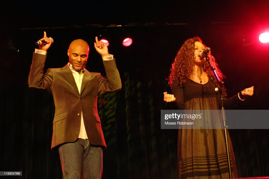Kenny Lattimore and Chante Moore during Kirk Franklin and the Children's Defense Fund Presents 'Imagine Me AllStar Celebrity Concert' at Gaylord...