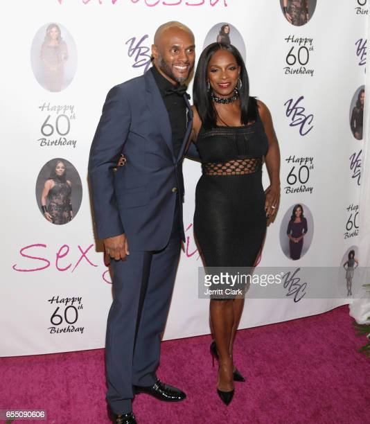 Kenny Lattimore and Vanessa Bell Calloway attends Vanessa Bell Calloway's 60th Birthday Bash at Cicada on March 18 2017 in Los Angeles California