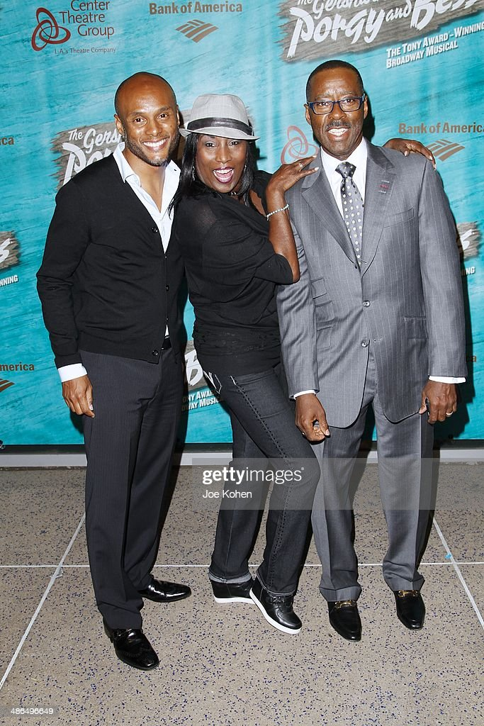 <a gi-track='captionPersonalityLinkClicked' href=/galleries/search?phrase=Kenny+Lattimore&family=editorial&specificpeople=734613 ng-click='$event.stopPropagation()'>Kenny Lattimore</a>, KiKi Shephard and Courtney Vance attend the Opening Night Of The Gershwin's 'Porgy And Bess' At The Ahmanson Theatre at Ahmanson Theatre on April 23, 2014 in Los Angeles, California.