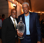 Kenny Leon and Julius 'Dr J' Erving attends Kenny Leon's Celebrity Golf Gala at Millennium Gate Museum on May 21 2016 in Atlanta Georgia