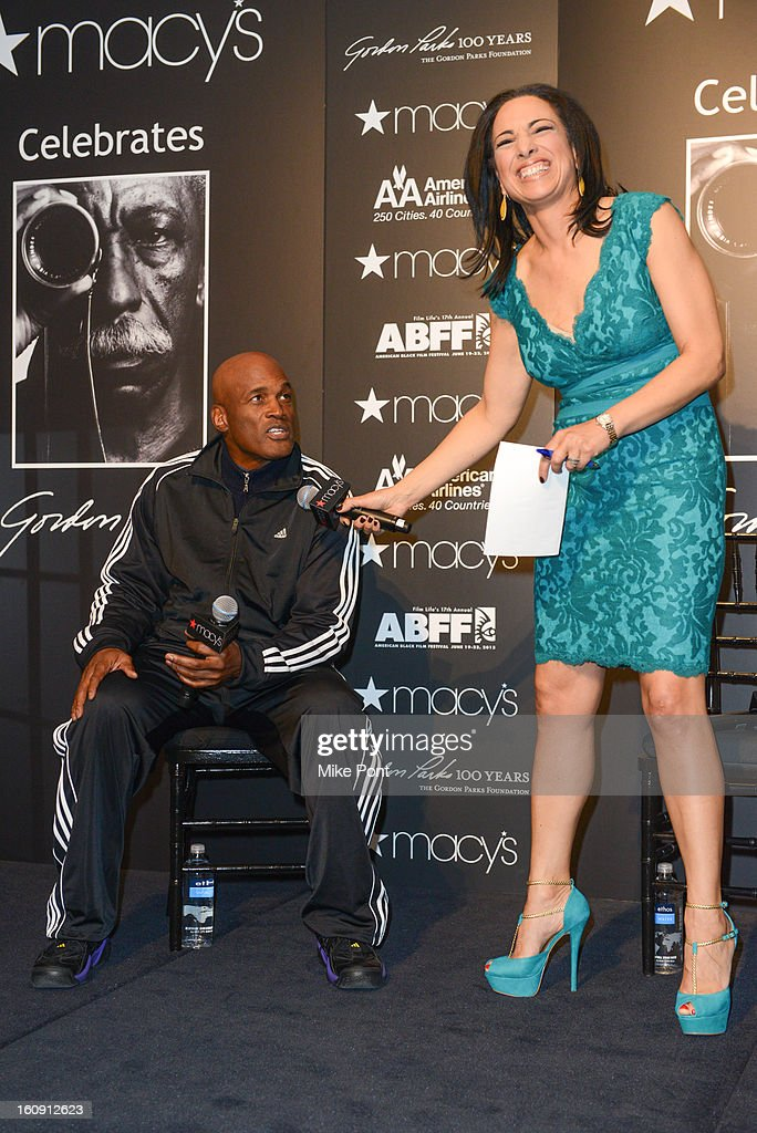 <a gi-track='captionPersonalityLinkClicked' href=/galleries/search?phrase=Kenny+Leon&family=editorial&specificpeople=234439 ng-click='$event.stopPropagation()'>Kenny Leon</a> and Michelle Miller attend Macy's hosts 'In Conversation' honoring Gordon Parks at Macy's Herald Square on February 7, 2013 in New York City.