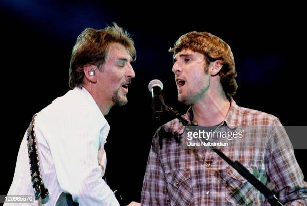 Kenny Loggins and Crosby Loggins during Crosby Loggins Performs at Marymoor Park July 15 2004 at Marymoor Park in Redmond WA United States