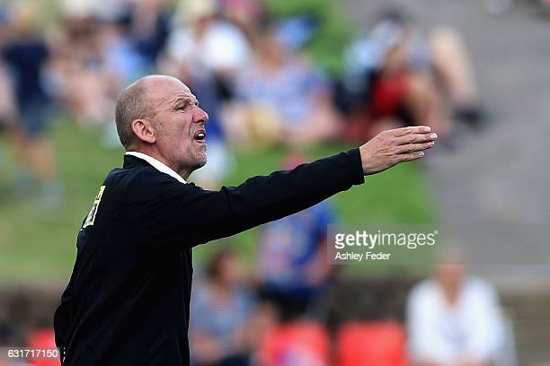 Kenny Lowe coach of the Glory during the round 15 ALeague match between the Newcastle Jets and the Perth Glory at McDonald Jones Stadium on January...