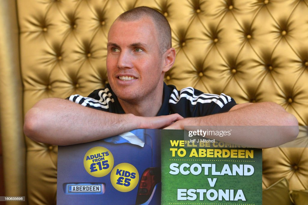 Kenny Miller, poses for pictures at the Adore House Hotel, following Gordon Strachan's first training session as Scotland coach at the Aberdeen Sports village on February 4, 2013 in Aberdeen,Scotland. Gordan Strachan will have his first game in charge against Estonia in an international friendly at Pittodrie on Wednesday.