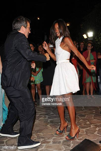 Kenny Ortega and Rula Jebreal attends Day 6 of the Ischia Global Fest 2011 on July 15 2011 in Ischia Italy
