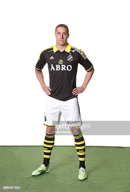 Kenny Pavey of AIK Solna poses during a portarit session on February 24 in StockholmSweden