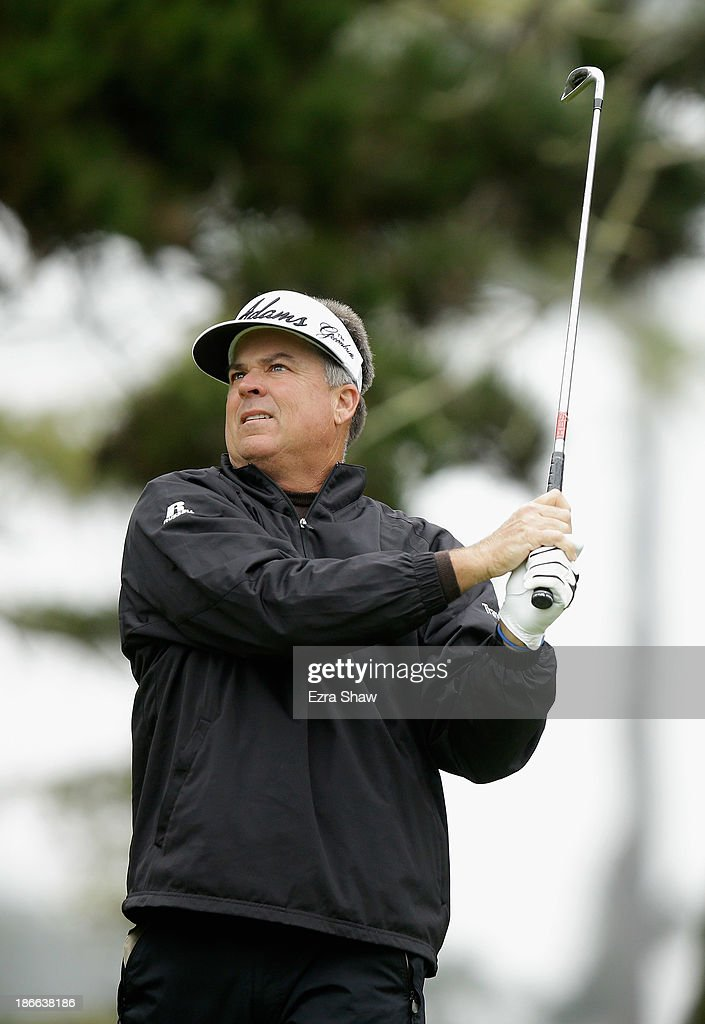 Kenny Perry tees off on the third hole during Round Three of the Charles Schwab Cup Championship at TPC Harding Park on November 2, 2013 in San Francisco, California.