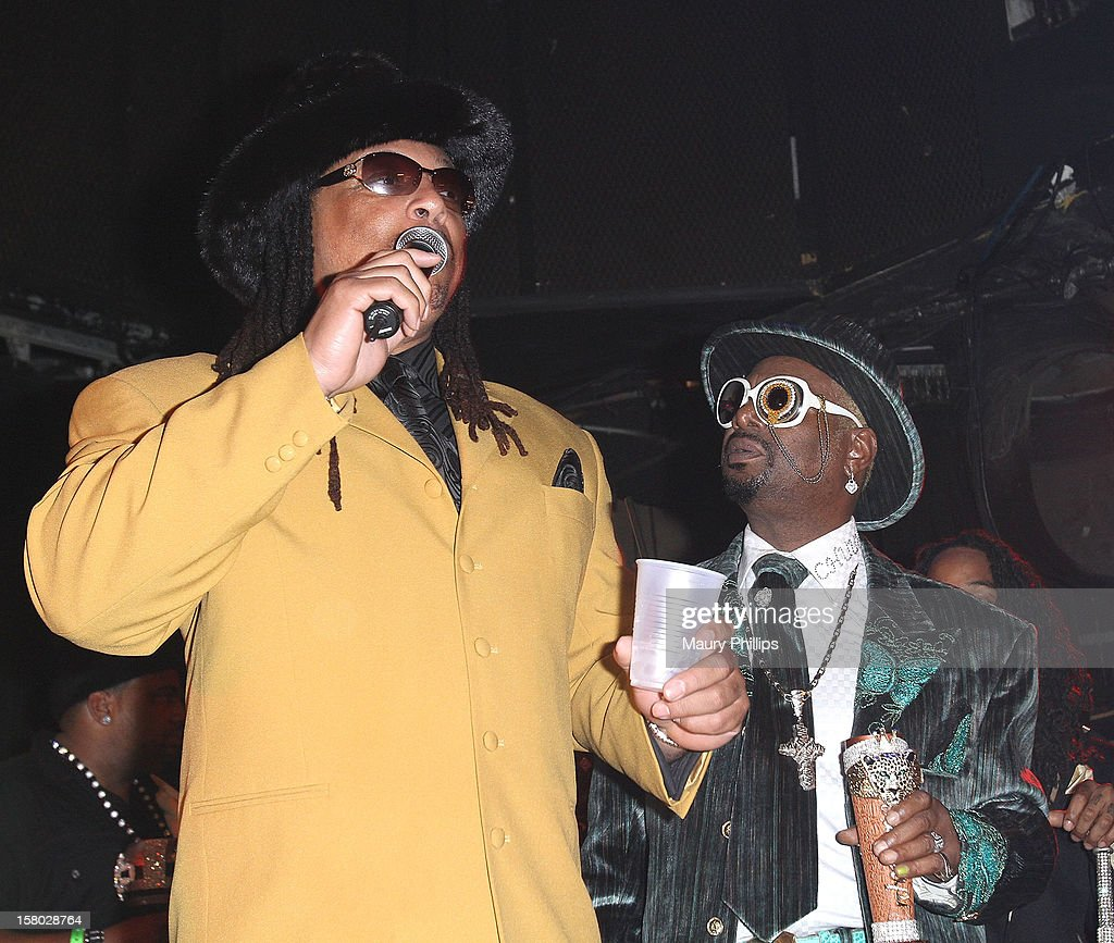 Kenny Red and Bishop Don 'Magic' Juan attend The Official International Players Ball 2012 and birthday celebration for Arch Bishop Don Magic Juan at Key Club on December 8, 2012 in West Hollywood, California.