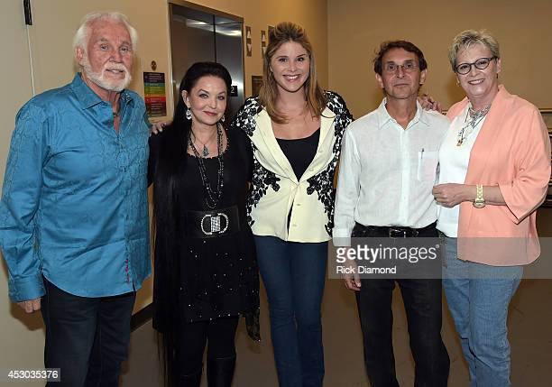 Kenny Rogers Crystal Gayle Jenna Bush Bill Gatzimos and Carolyn Tate VP of Museum services Former First Daughter Jenna Bush interviews Kenny Rogers...