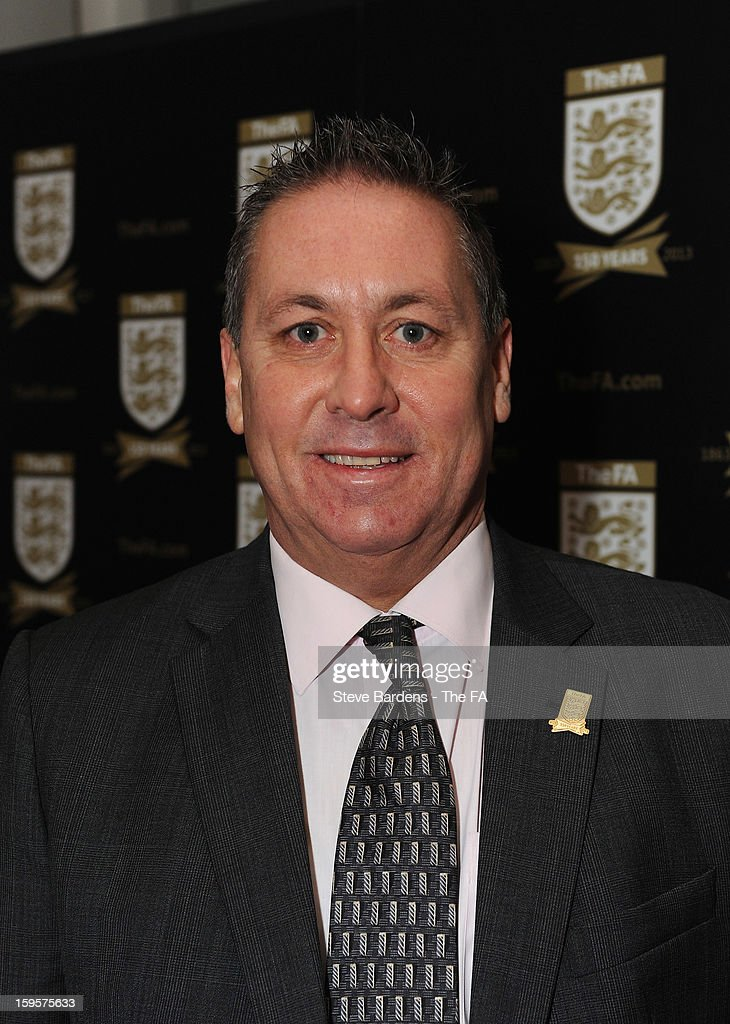 <a gi-track='captionPersonalityLinkClicked' href=/galleries/search?phrase=Kenny+Sansom&family=editorial&specificpeople=903012 ng-click='$event.stopPropagation()'>Kenny Sansom</a> attends the official launch to mark the FA's 150th Anniversary Year at the Grand Connaught Rooms on January 16, 2013 in London, England.