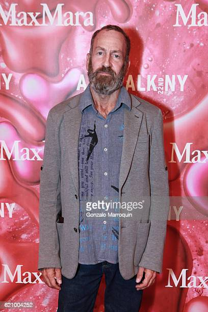Kenny Scharf at the 2016 ArtWalkNY Benefitting Coalition for the Homeless at Metropolitan Pavilion on November 3 2016 in New York City