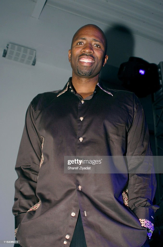 <a gi-track='captionPersonalityLinkClicked' href=/galleries/search?phrase=Kenny+Smith&family=editorial&specificpeople=221585 ng-click='$event.stopPropagation()'>Kenny Smith</a> during Launch Party to Celebrate NBA All-Star Dwyane Wade and His New Converse Signature Shoe 'Wade' at SplashLight Studios in New York City, New York, United States.