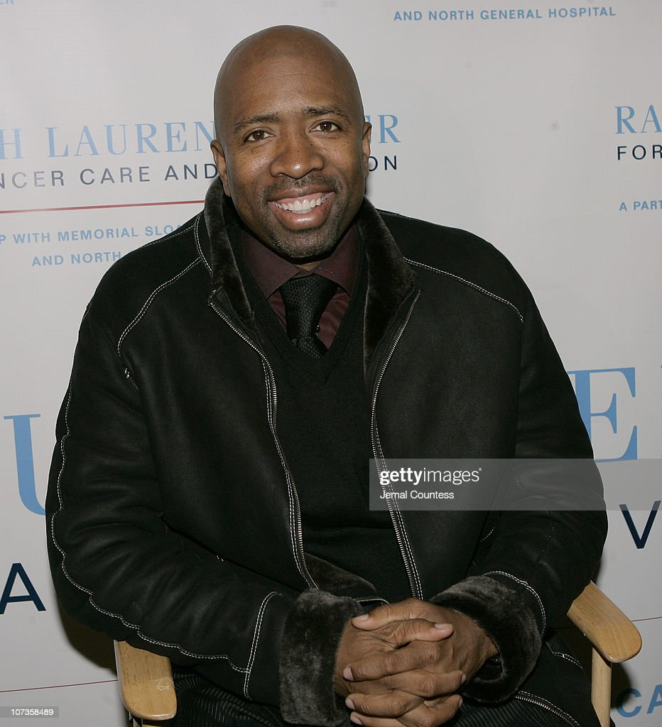 <a gi-track='captionPersonalityLinkClicked' href=/galleries/search?phrase=Kenny+Smith&family=editorial&specificpeople=221585 ng-click='$event.stopPropagation()'>Kenny Smith</a> during The Ralph Lauren Center for Cancer Care and Prevention and the NBA Cares Program Host The Harlem Men All-Star Evening at AMC Magic Johnson Harlem Theaters in New York City, New York, United States.