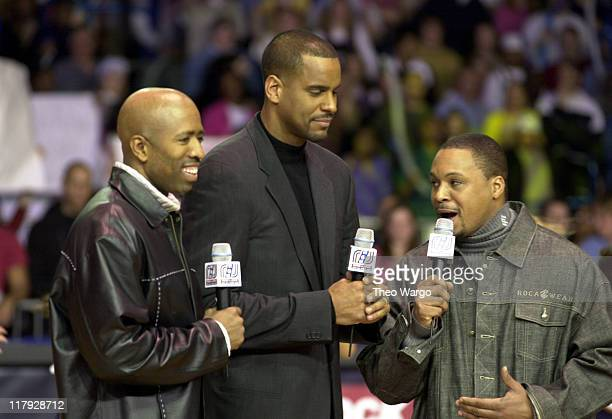 Kenny Smith Jayson Williams and Gus Johnson hosts of the event
