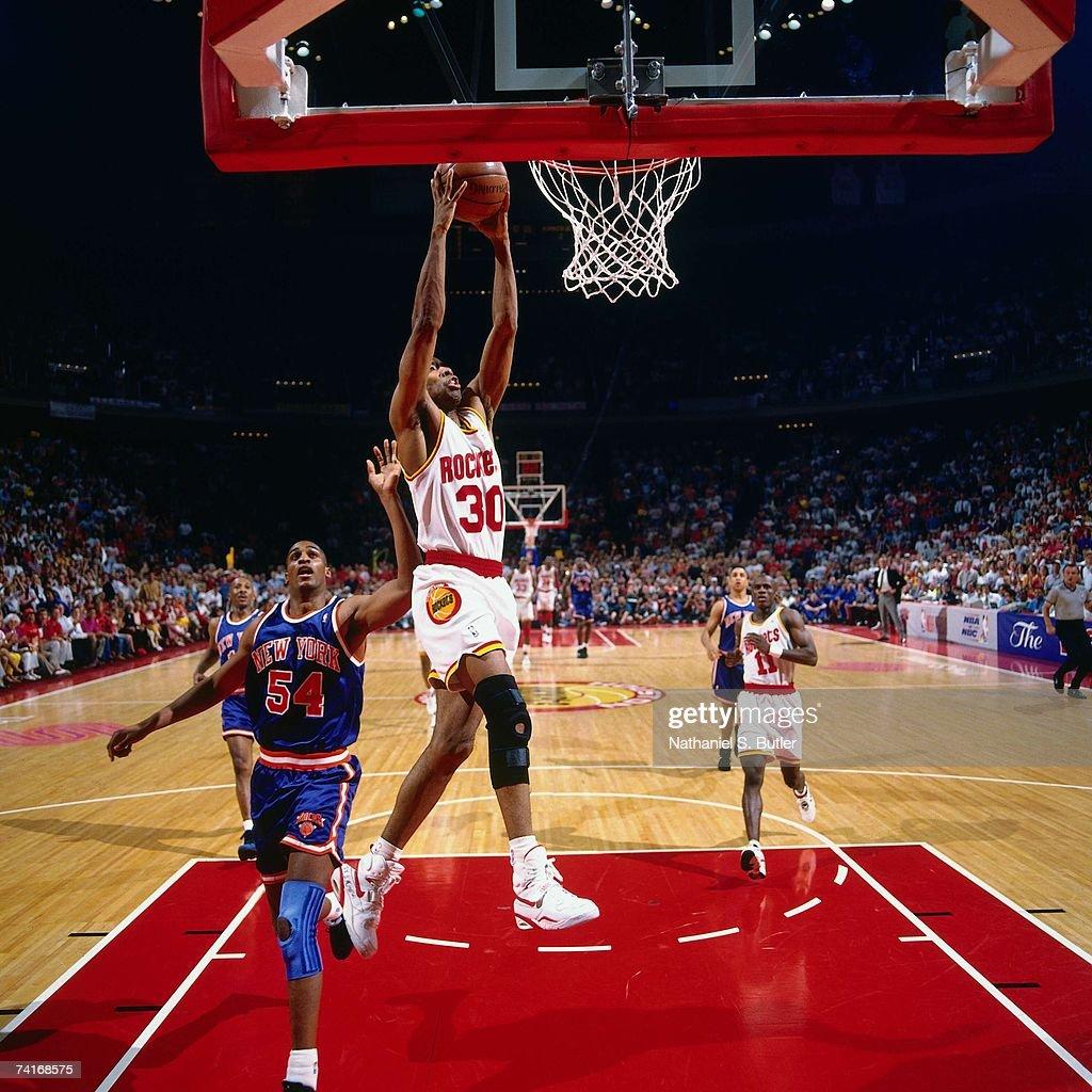 Ho houston rockets nba championship - Kenny Smith 30 Of The Houston Rockets Dunks Against Charles Smith 54 Of The