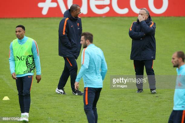 Kenny Tete of Holland assistant trainer Ruud Gullit of Holland Vincent Janssen of Holland coach Dick Advocaat of Hollandduring a training session...