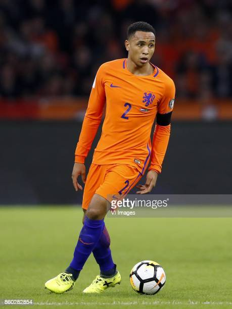 Kenny Tete of Holland during the FIFA World Cup 2018 qualifying match between The Netherlands and Sweden at the Amsterdam Arena on October 10 2017 in...