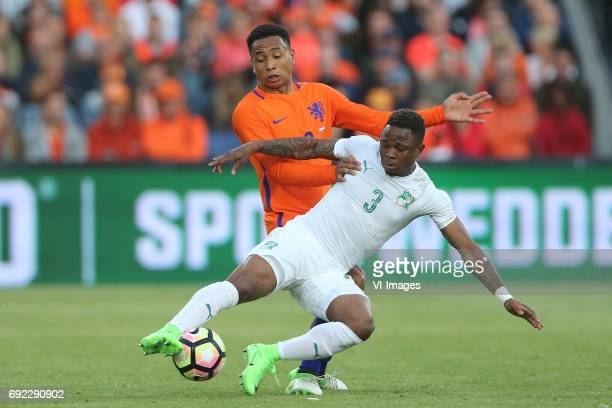 Kenny Tete of Holland Gohi Bi Cyriac of Ivory Coastduring the friendly match between The Netherlands and Ivory Coast at the Kuip on June 4 2017 in...