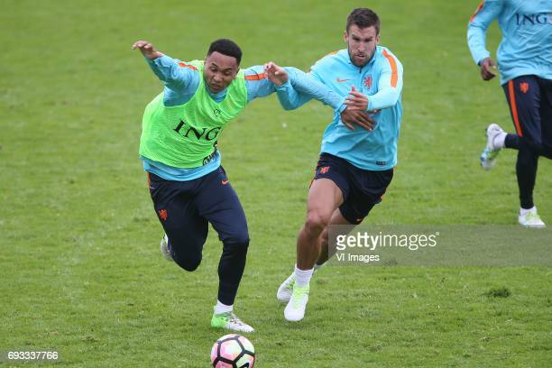 Kenny Tete of Holland Kevin Strootman of Hollandduring a training session prior to the FIFA World Cup 2018 qualifying match between The Netherlands...