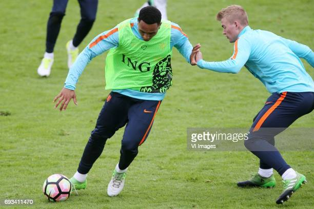 Kenny Tete of Holland Matthijs de Ligt of Hollandduring a training session prior to the FIFA World Cup 2018 qualifying match between The Netherlands...