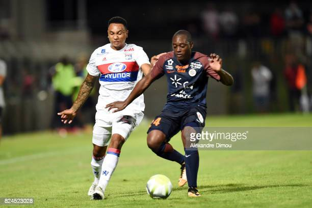 Kenny Tete of Lyon and Jerome Roussillon of Montpellier during the Friendly match between Montpellier Herault and Olympique Lyonnais on July 30 2017...