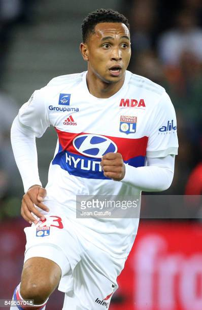 Kenny Tete of Lyon during the French Ligue 1 match between Paris Saint Germain and Olympique Lyonnais at Parc des Princes on September 17 2017 in...
